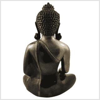 Medizinbuddha Kundal 51cm antikgrün rücken
