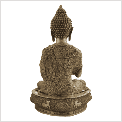 Lehrender Buddha 10,3kg Diamantencut Ashtamangala Hinten