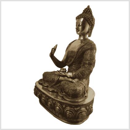 Lehrender Buddha 10,3kg Diamantencut Ashtamangala Seite links