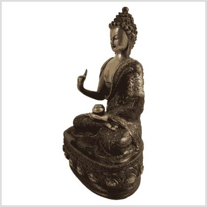 Lehrende Buddha Vitarka Mudra Lifebuddha 33cm rotgold Seite links