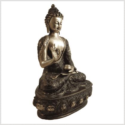 Lehrende Buddha Vitarka Mudra Lifebuddha 33cm rotgold Seite rechts