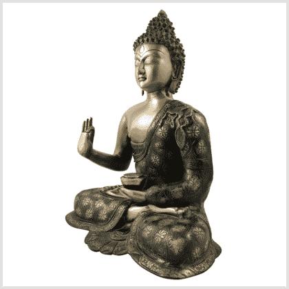 Lehrender Buddha 9,6kg Messing Seitenansicht links