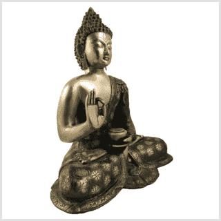 Lehrender Buddha 9,6kg Messing Seitenansicht rechts