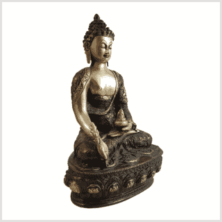 Medizinbuddha 33cm Lifebuddha rotgrün Seite rechts