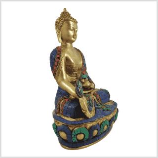 Medizinbuddha 29cm Steinarbeit Seitenansicht