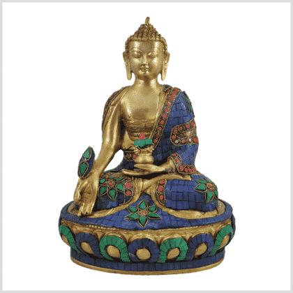 Medizinbuddha 29cm Steinarbeit Vorderansicht