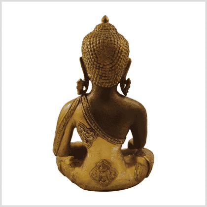 Medizinbuddha 5,6kg Ashtamangala Kaffeebraun Rücken