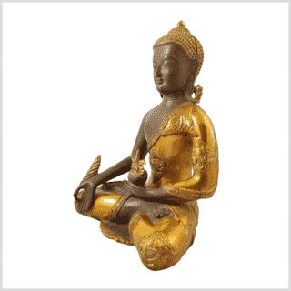 Medizinbuddha 5,6kg Ashtamangala Kaffeebraun Seitenansicht links