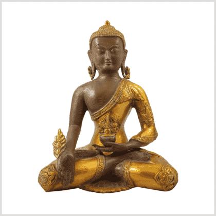 Medizinbuddha 5,6kg Ashtamangala Kaffeebraun Vorderansicht