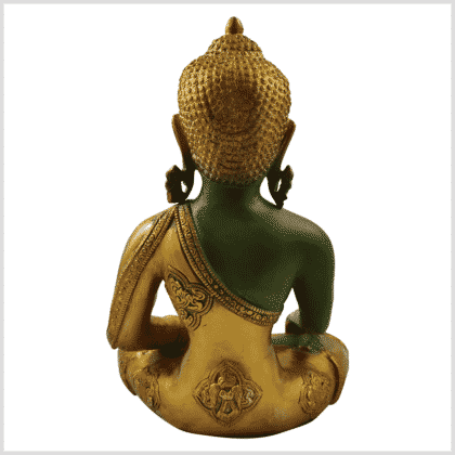 Medizinbuddha 5,6kg grüngold antik hinten