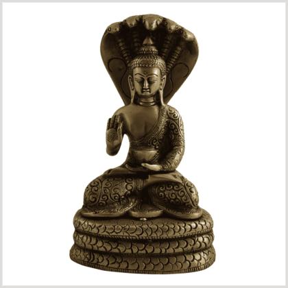 Naga Buddha 18,5cm Messing vorne