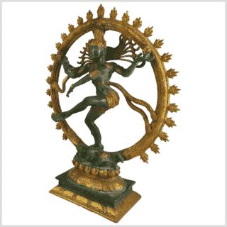 Shiva Nataraja Fine 17Inch Grüngold Seite links