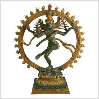Shiva Nataraja Fine 17Inch Grüngold Vorne