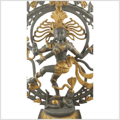 Shiva Nataraja Aum 14,3kg Graugold Nahansicht