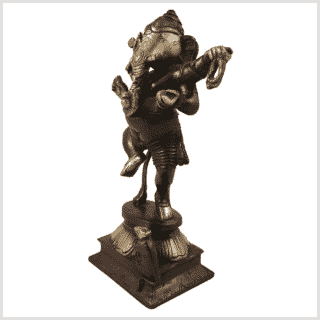 Tanzender Ganesha Messing rotgold links
