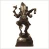 Tanzender Ganesha Messing rotgold Vorderansicht