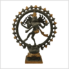 Shiva Nataraja 2,2kg Messing Graugold Vorderansicht