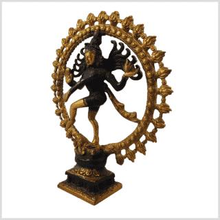 Shiva Nataraja 2,2kg dunkelbraungold Seitenansicht