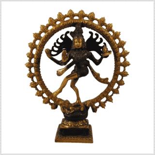 Shiva Nataraja 2,2kg dunkelbraungold Vorne