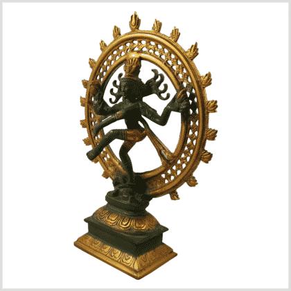 Nataraja Tanzender Shiva 2,9jg Messing nepalgrün Seitenansicht