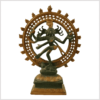 Nataraja Tanzender Shiva 2,9jg Messing nepalgrün Vorderansicht