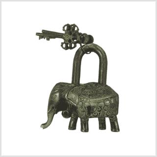 Truhenschloss Messing antikgrün 16cm