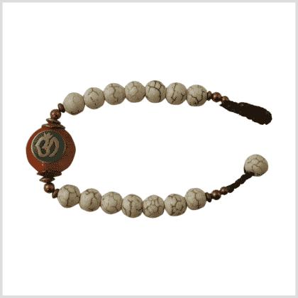 Armband Aum Howlith Weiß