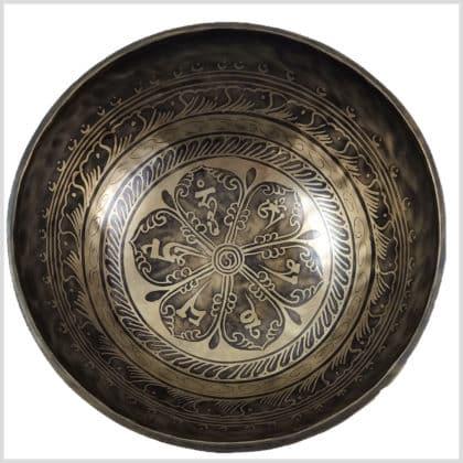 Universalklangschale Aum Mantra Ying Yang 1650g Innenansicht