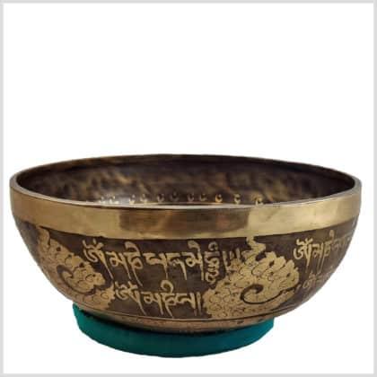 Universalklangschale Aum Mantra Ying Yang 1650g Seitenansicht