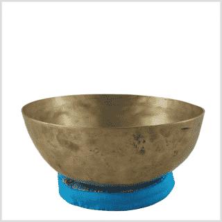Alte Halschakra Klangschale aus Tibet 376g Seitenansicht