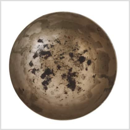 Antike Halschakra Klangschale 372g Innenansicht