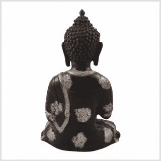 Ashtamangala Buddha 2,8kg 25cm schwarzsilber Rücken