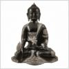 Ashtamangala Medizinbuddha 25cm schwarzsilber Vorderansicht