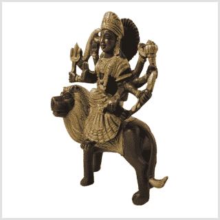 Durga 950g Messing Kupfer Seite links