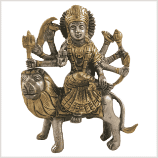 Durga 950g 14,7cm Messing Silber