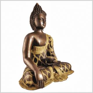 Erdender Buddha 9,6kg Messing Kupfer Seite rechts
