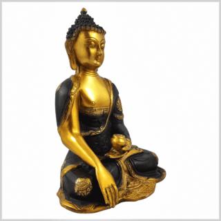 Erdender Buddha Ashtamangala 25cm braungold Seite rechts
