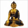 Erdender Buddha Ashtamangala 25cm braungold Vorderansicht