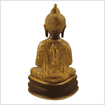 Erleuchteter Buddha 2,22kg 23,5cm kaffeebraun Rücken