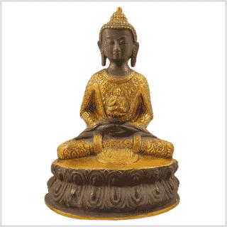 Erleuchteter Buddha 2,22kg 23,5cm kaffeebraun Vorne