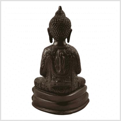 Erleuchteter Buddha 2,22kg 23,5cm rotgold hinten