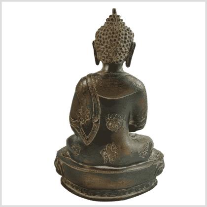 Erleuchtungsbuddha 31cm grün Pattina Rücken