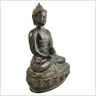 Erleuchtungsbuddha 31cm grün Pattina Seite rechts