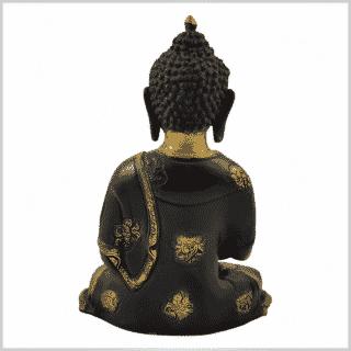 Erleuchtungsbuddha 25cm 2,8kg braungold hinten