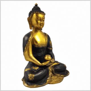 Erleuchtungsbuddha 25cm 2,8kg braungold Seite rechts