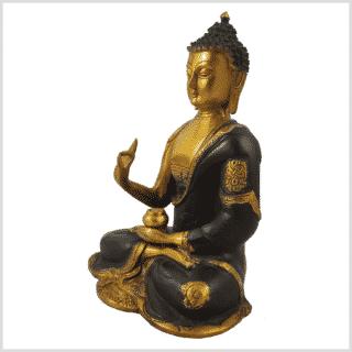 Vitarka Mudra Buddha Ashtamangala 25cm braungold Seite links