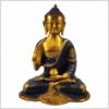 Vitarka Mudra Buddha Ashtamangala 25cm braungold vorne