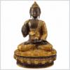 Lehrender Buddha 33cm kaffeebraun gold Vorderansicht