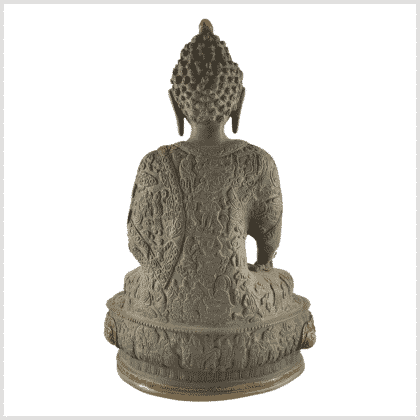 Medizinbuddha 4kg 33cm Lifebuddha graugold Rücken