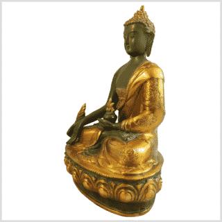 Medizinbuddha Ashtamangala 31cm mintgrün Seite links